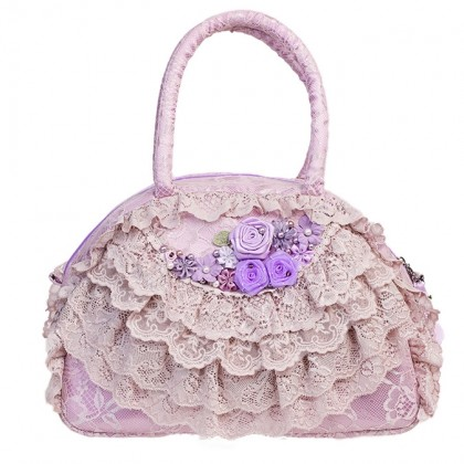 Purple Ruffled Bag