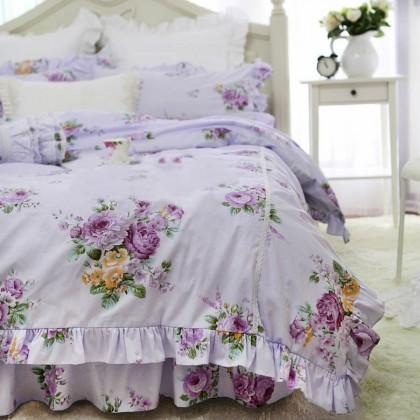 Purple Cottage Duvet Cover Set