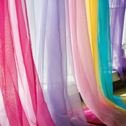 Voile Panel in Multiple Colors Fabric Swatches
