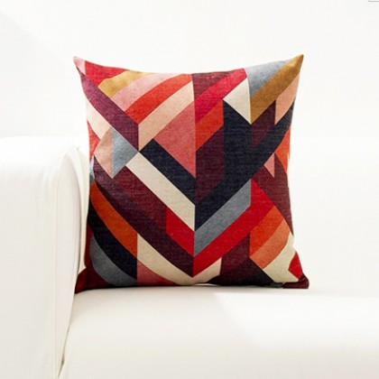 Bright Color Geometry Cushion Cover I