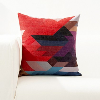 Bright Color Geometry Cushion Cover H