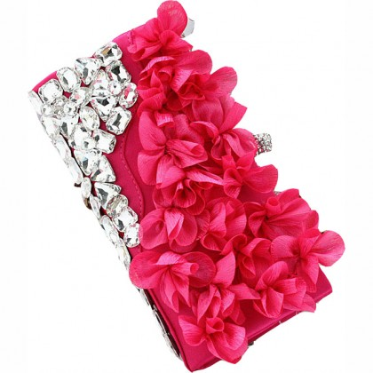 Pedal Flower Purse,  Fuschia
