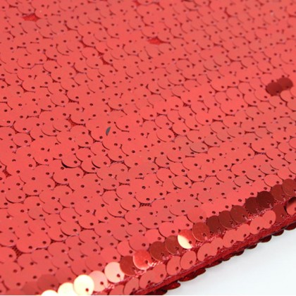 High Density Red Sequin Fabric