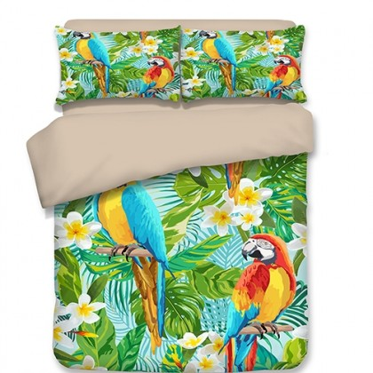 Parrot Zoo Duvet Cover Set