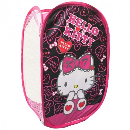 Black Hello Kitty Foldable Clothes Laundry Basket/Storage/Bag