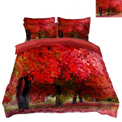 Fall Scenery Duvet Covet Set J