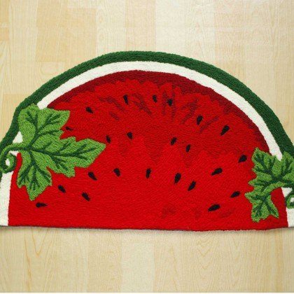 Red Watermelon Area Rug