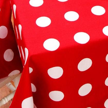 Red Polka Dot Tablecloth