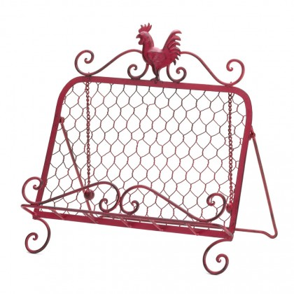 Red Rooster Cookbook Stand