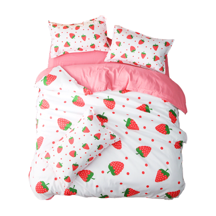 Red Strawberry Duvet Cover Set