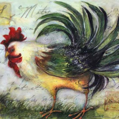 Rooster Canvas Print C