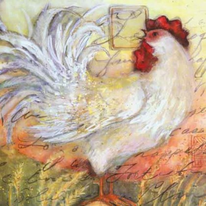 Rooster Canvas Print D