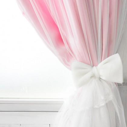 Pink Dream Ruffle Curtain