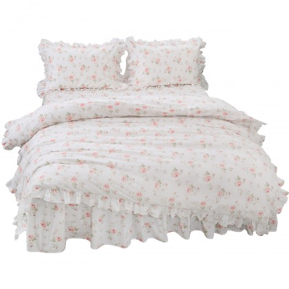 Mini Rose Cream Duvet Cover Set