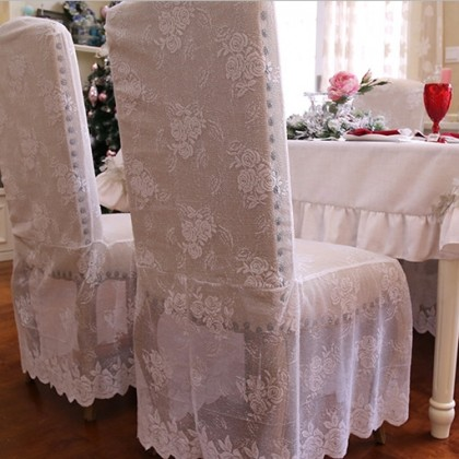 Rose Lace Chair Cover