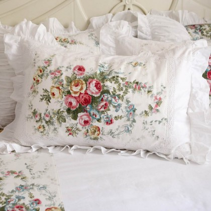 Royal Rose Garden Ruffle Pillow Sham