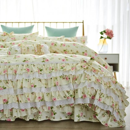 Cottage Ruffle Romantic Duvet Cover Set