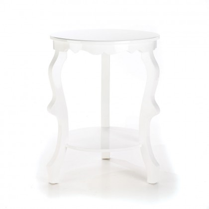 Round Glossy Accent Table