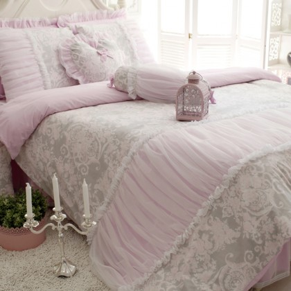 Elegant Ruched Duvet Cover Set