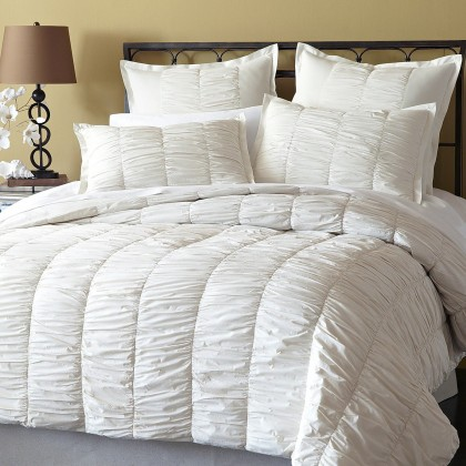 White Ruffled Duvet Cover Set