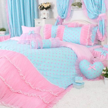 Pink Polka Dot Dream Duvet Cover Set