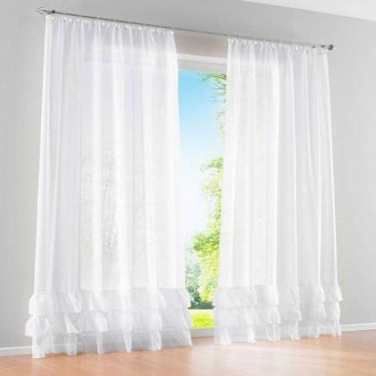 Ruffle Sheer Curtain Set