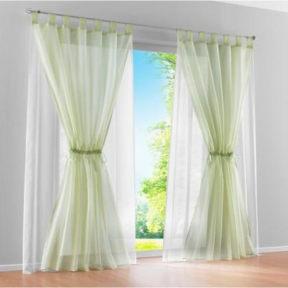 Gathering Sheer Curtain Set