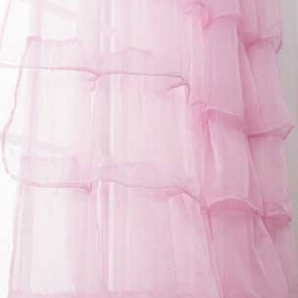 Trendy Ruffle Panel-Pink