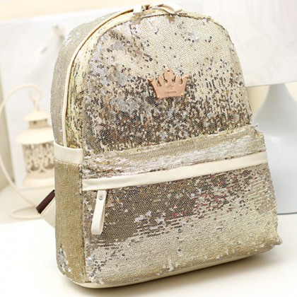 Gold Sequin Backpack
