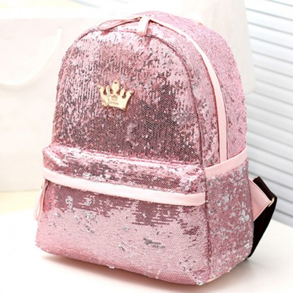 Pink Sequin Backpack
