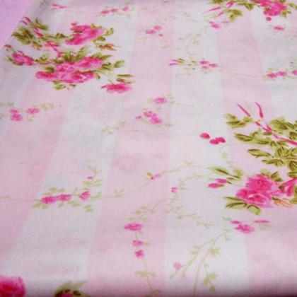 Stripe Chic Pink Rose Fabric