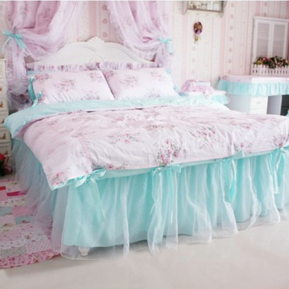 Shabby Pink Rose Bedding Set