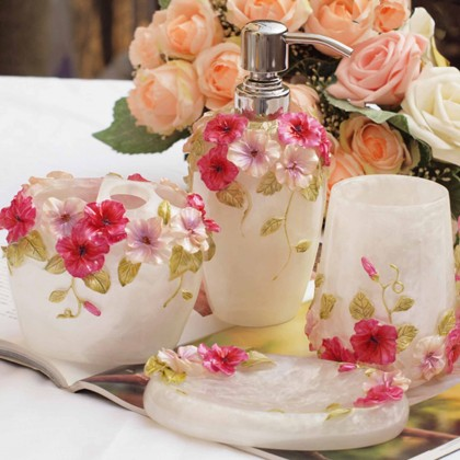 Shabby Chic Garden Bathroom Set 5pcs