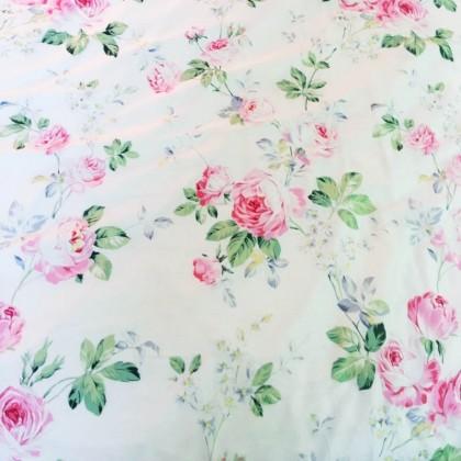 Rose Garden Ruffled Duvet Cover Set
