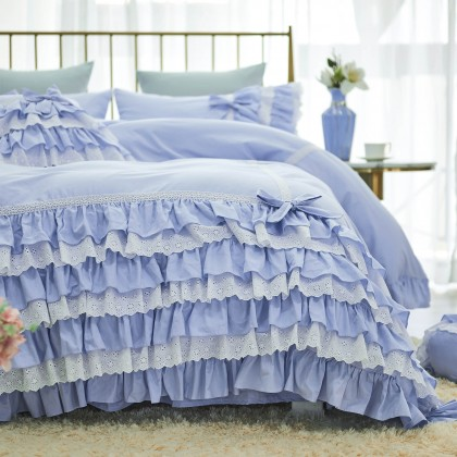 Blue Romantic Duvet Cover Set