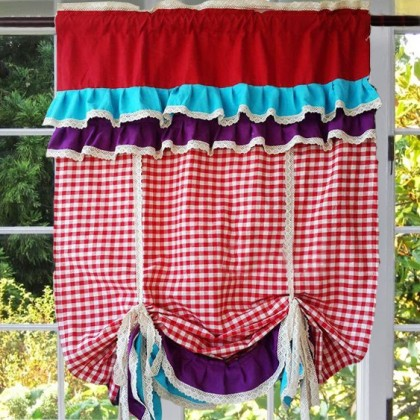 Vintage Tie up Balloon Curtain