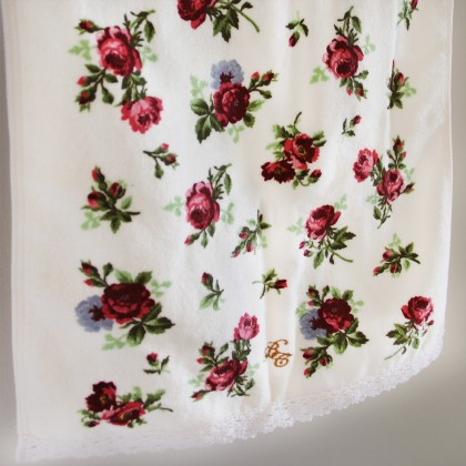 Romantic Cottage Rose Towel