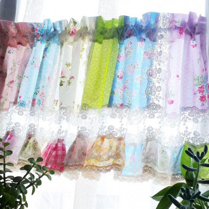 Rose Garden Lace Quilt Valance