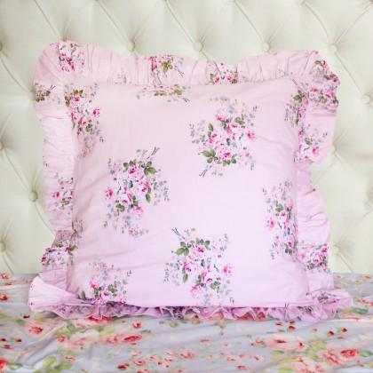 Pink Rose Pillow Sham ( pair)