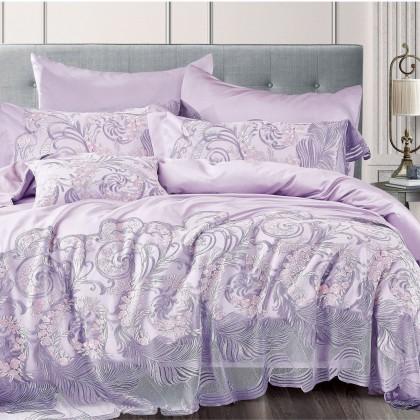 Purple Vienna Lace Egyptian Cotton Duvet Cover Set