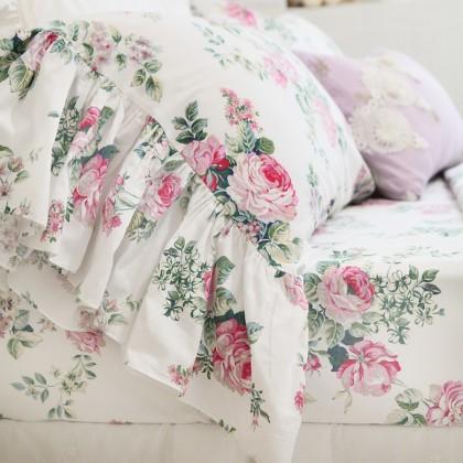 Love Story Rose Mermaid Ruffle Sheet Set or Duvet Cover