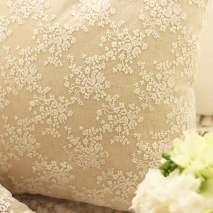 Embroidery Lace Parisian Cushion Cover