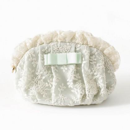 Rose Embroidered Lace Make Up Bag