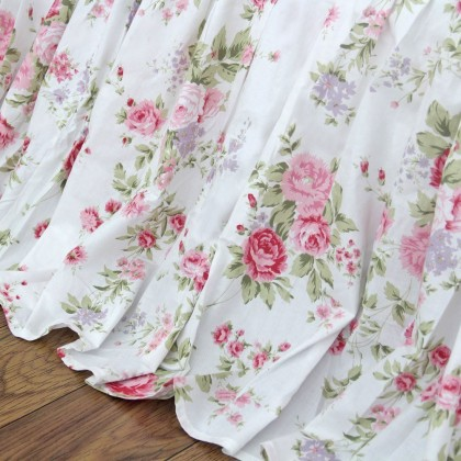 Shabby White Romance Bed Skirt
