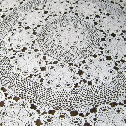Round Crochet Table Topper