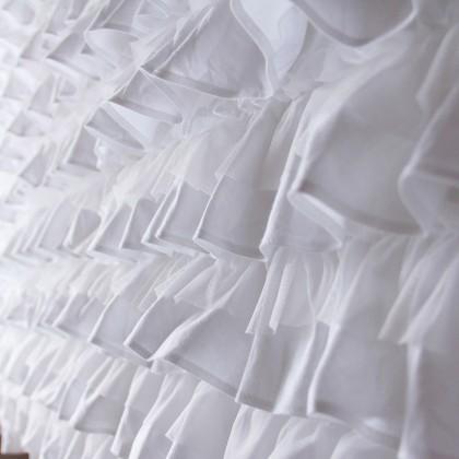 Multi Ruffle White Bed Skirt Bedspread