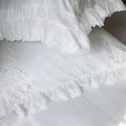 Lace Ivory Pillow Sham