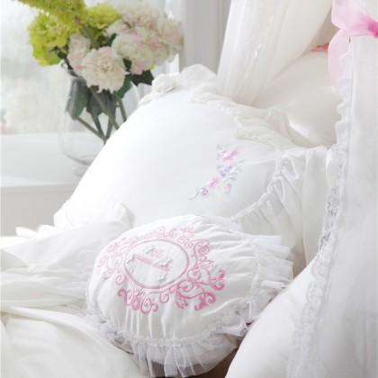 White Mermaid Ruffle Egyptian Cotton Duvet Cover Set