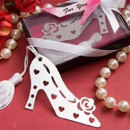 Fashion Shoe Bookmark Bridal Shower Wedding Party Event Favors