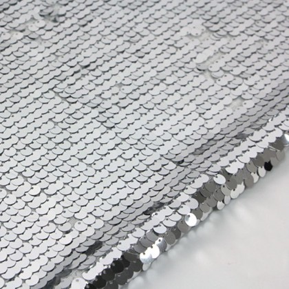 High Density Silver Sequin Fabric